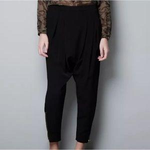 Zara Black Harem Trousers Pants